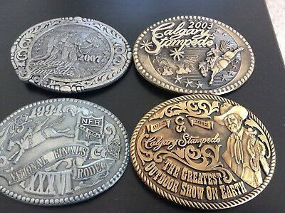 Calgary Stampede Belt Buckles lot 4 Pewter Brass Limited Edition