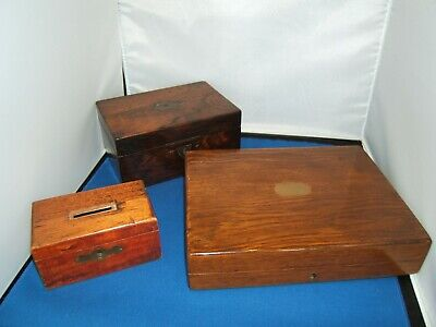 Antique/Vintage Cutlery,Trinket and Money Box - Restoration Project - Wooden