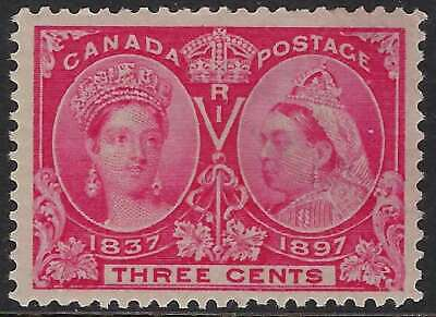 Scott 53 - 3c Bright Rose Queen Victoria 1897 Diamond Jubilee, Mint VF-LH