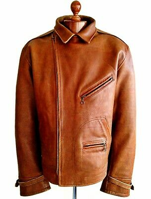 Vtg Leather RALPH LAUREN POLO RRL Harrington Bomber Biker Flying Jacket Coat USA
