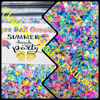 LimitedEd GlitterMix~Summer Beach Party~WithAlloy~Nail Art/Body Glitter/festival