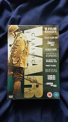 Classic War Collection 9 Dvd Box Set, Great Escape,  Longest Day.  Rare New