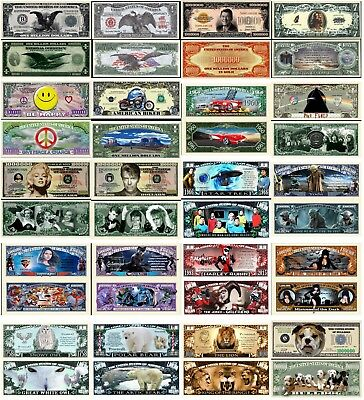 YOU CHOOSE ~ MIX OR MATCH ~ 20 Funny Money Novelty Notes with FREE SLEEVES