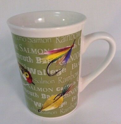 Field & Stream Outdoor Adventures Fly Fishing Lure Trout Fishing Coffee Mug Cup