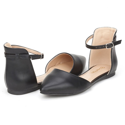 d52194ada DREAM PAIRS FLAPOINTED Women's Casual D'orsay Pointed Plain Ballet Comfort  Soft