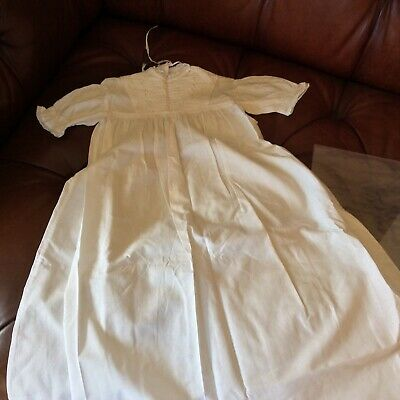 Beautiful Handmade Christening Robe. One off. A lovely Vintage item.