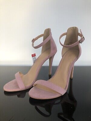 7e9a76a8b Matalan Papaya Ladies Pink Faux Suede Sandel Heel Shoes - SIZE 7 - All  Occasions