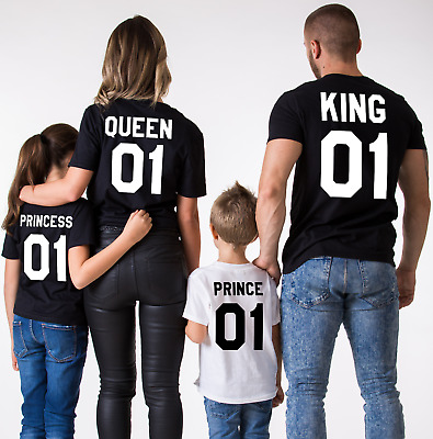 King 01 Queen 01 Prince 01 Princess 01- Love Matching Couples - Unisex Tops