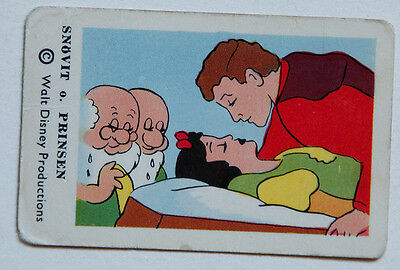 Snow White and the Seven Dwarfs Swedish card Prince Charming 1970s Sweden Disney