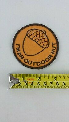 I'm An Outdoor Nut Acorn Embroidered Patch, Hiking, Fishing, Hunting, Camping