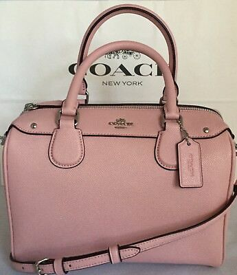 25/% off your next order* NWT Coach F57521 mini Bennett Hot Pink Leather Satchel
