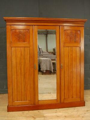 Antique 19th Century Victorian Walnut Triple Wardrobe Compactum