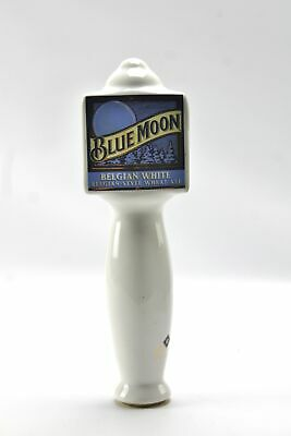 Blue Moon Belgian White Wheat Ale White Ceramic Beer Tap Handle