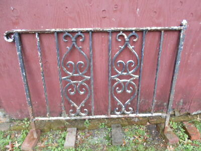 Vintage Antique Single Section Heavy Duty Wrought Iron Railing/PICKUP ONLY!