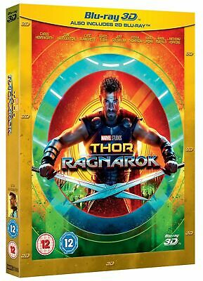 Thor Ragnarok 3D Blu-Ray One Disc Movie With Case Only Never Watched