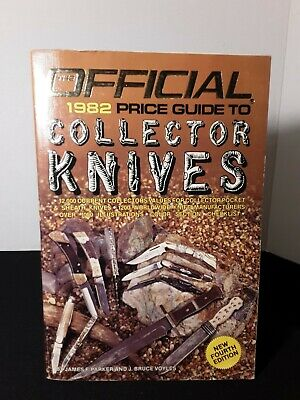 Official Price Guide To Collector Knives by Jim Parker 4th Edition 1982  Good