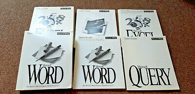 Vintage Microsoft Office User's Guides Manuals Word Excel Powerpoint Query