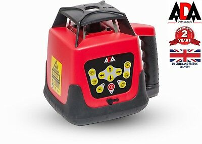 500M Rotary Laser Level Kit 360 Degree Self Leveling Remote Control Survey ADA
