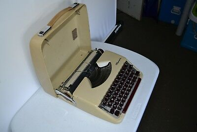 Vintage Olympia type writer in case portable 1960's