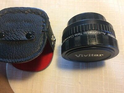 Vivitar 2x Automatic Tele-Converter for m42 Screw Mt Lens with Caps and Case
