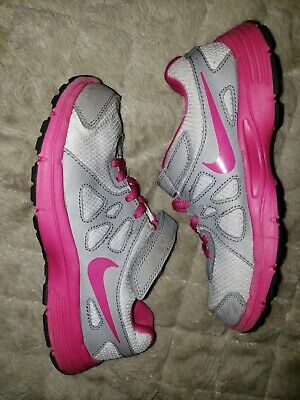 74199d73e8 Nike Girls Pink Gray Revolution 2 Athletic Running Shoes Size 2Y Youth