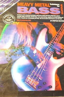 Heavy Metal Bass Techniques For Guitar.vg. Condition.photos Rock Groups 1991.