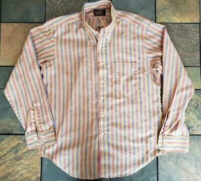 VTG 1960's CAMPUS American Traditionals Button Down Dress Shirt L 16 - 16 1/2