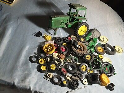 Lot of Vintage Tractor Parts Die Cast Wheels Tractor for Repairs No Reserve NR !