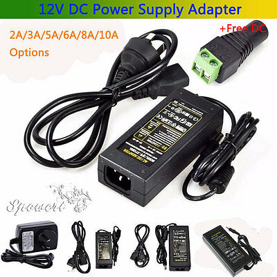 2A 4A 6A 10A 12V DC Power Supply Charger Adapter Transformer 3528 5050 LED Strip