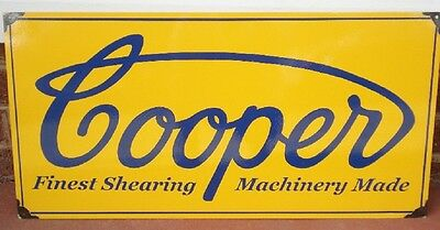 Coopers Shearing Enamel Sign (Made To Order) #13#
