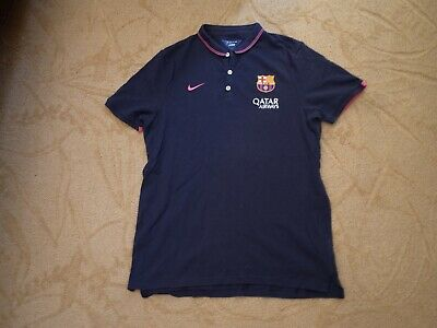 96f114f5d7a Men's Nike FC Barcelona Polo Shirt Barca Large Football Futbol Soccer L  Qatar
