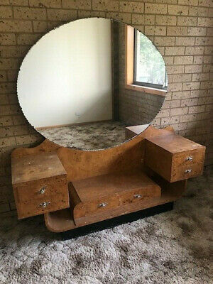 Art Deco Vintage Mirror/  Dressing Table
