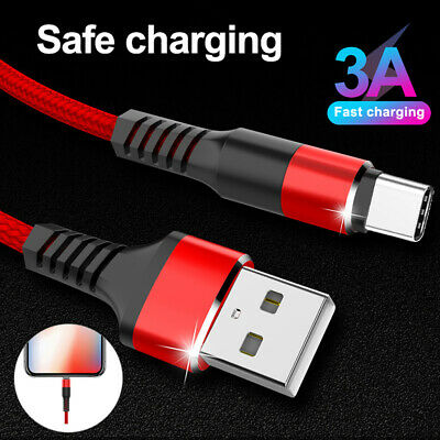 For Samsung Galaxy S10 S9 Plus Type C USB-C Sync Fast Charger Charging Cable
