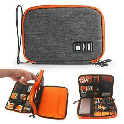 Layer Drive Cable Case Bag USB Electronic Organizer Gadget Storage Pouch Fa U8W4