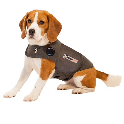 + THUNDERSHIRT Dog Anxiety Solution SMALL In Solid Gray, Calming Jacket 33-22