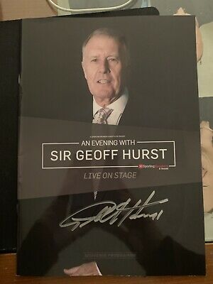 Sir Geoff Hurst Signed Tour Programme Proceeds To a1 Charities £6