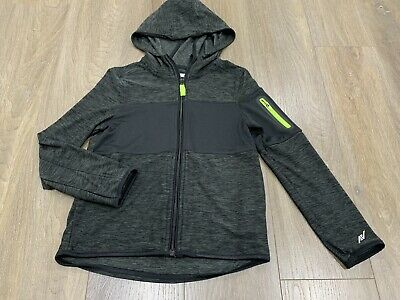 Boys size 8 Black & Fluro AV Sports Hoodie / jacket Australian Made *Great Con*
