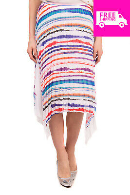 7016fe239a5b RRP€960 EMILIO PUCCI Concertina Skirt Size 40 / XS Striped Pleated Made in  Italy