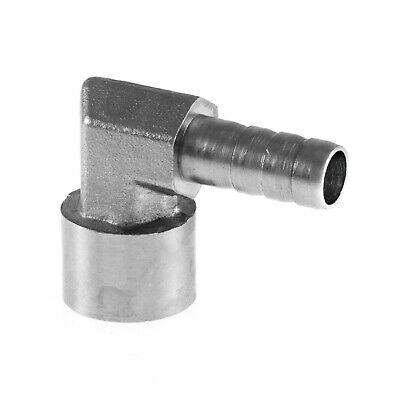 """Hose Tail Adaptor Female x Elbow Joiner Connector BZP 1/8"""" To 1/2"""" BSP"""