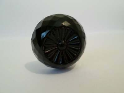 Antique late Victorian or Edwardian French jet (black glass) mourning hatpin 2