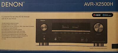 Denon AVR-X2500H 7.2 Channel Av Receiver, Dolby Atmos, 7x 150 W Black - New