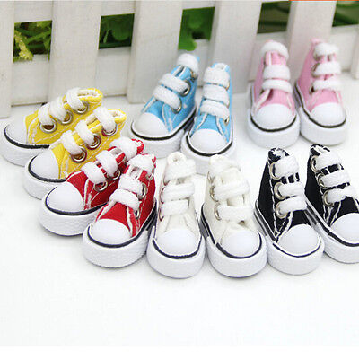 5cm Doll Shoes Denim Canvas Toy Shoes1/6 For Russian  Doll Sneacker ODCA