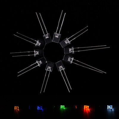 100pcs Rectangular Square LED Emitting Diodes Light LEDs Bulbs Water Clear ODCA