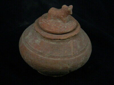 Ancient Teracotta Pot With Bull Indus Valley 1500 BC #PT109