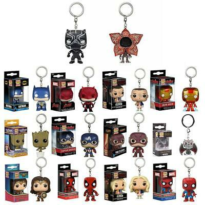 Keychain Baby Groot Batman SpiderMan DeadPool Figure Keyring PVC Toy Gift