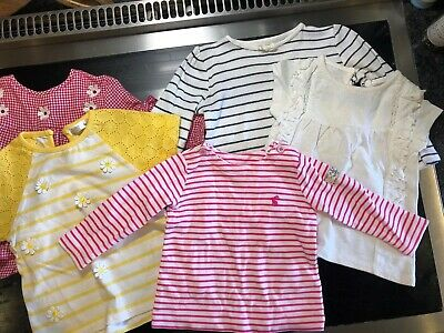 BABY GIRL BUNDLE Of 5 Tops From 3m To 18m JOULES, Etc