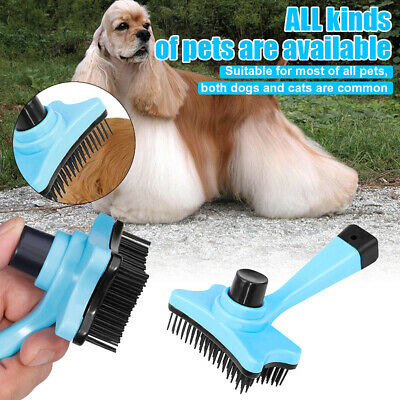Pet Dog Cat Puppy Hair Grooming Shedding Tool Comb Trimmer Bath Massage Dry