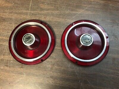 1962 Ford Galaxie 500 Xl Tail Light Back Up Lamp Lenses Pair Nors Glo Brite 619