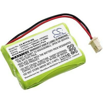 Check Connector Picture Rechargeable Battery Compatible with Motorola MBP36S Baby Monitor GP80AAAHC3BMXZ