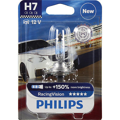 Philips Racing Vision H7 12V 55W PX26d +150% 1 Stück Blister Lampe Birne